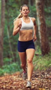 Nicely Muscular Woman Running